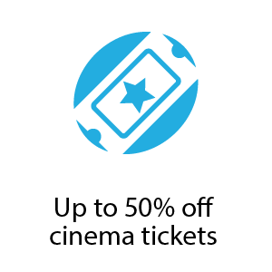 Up to 50% off cinema tickets copy